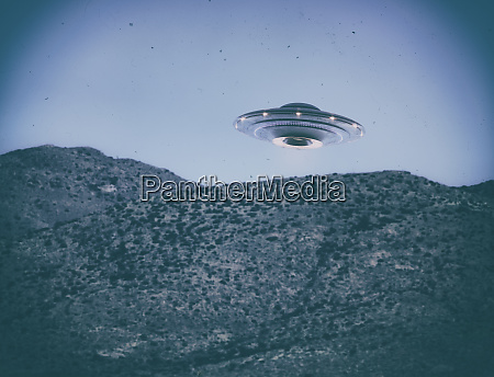 ufo old vintage photo with clipping