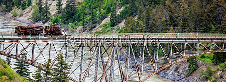 bridge over the fraser river at