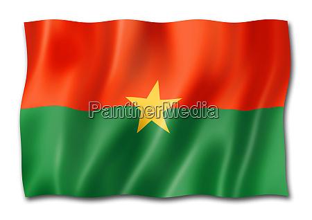 burkina faso flag isolated on white