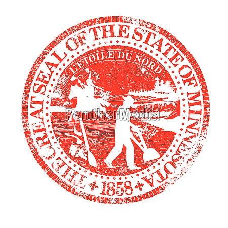 minnesota seal rubber stamp