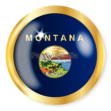 montana flag button