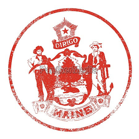 maine seal rubber stamp