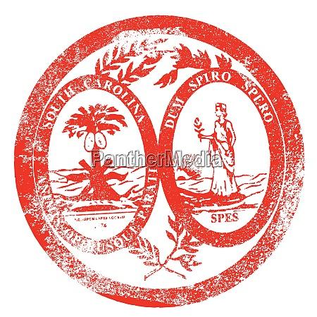 south carolina seal stamp