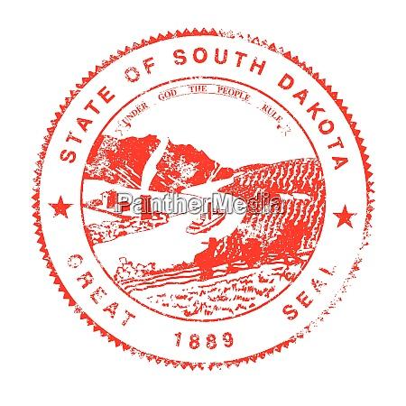 south dakota seal rubber stamp