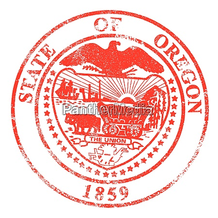 oregon seal rubber stamp
