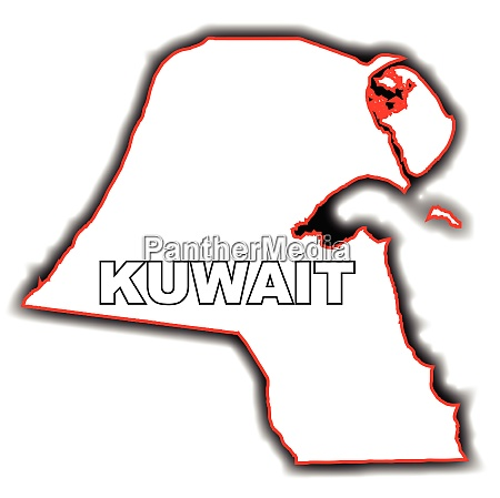 outline map of kuwait