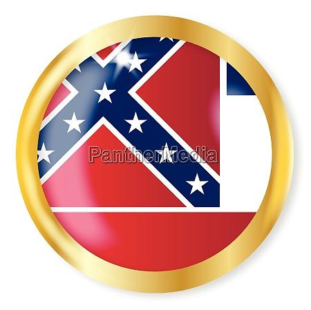 mississippi flag button