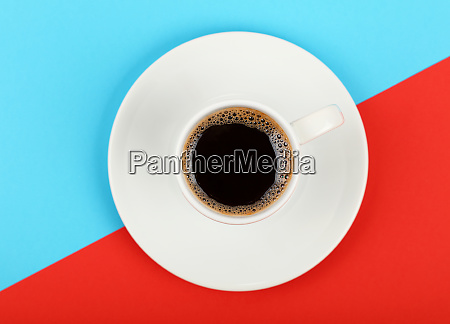 full white espresso coffee cup on