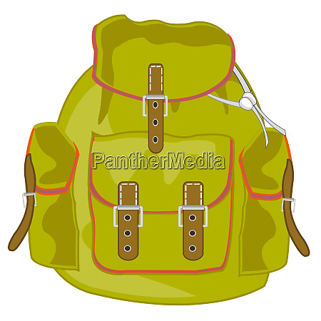vector illustration of the tourist backpack
