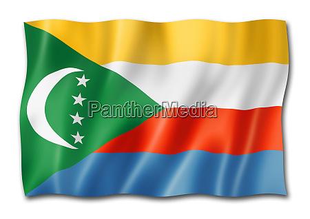 comorian flag isolated on white