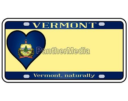 vermont license plate