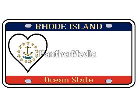 rhode island state license plate