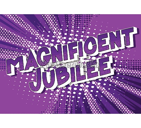 magnificent, jubilee, -, comic, book, style - 26136281
