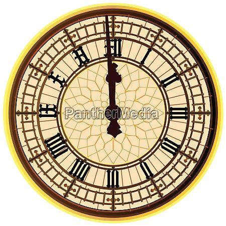 big ben midnight clock face