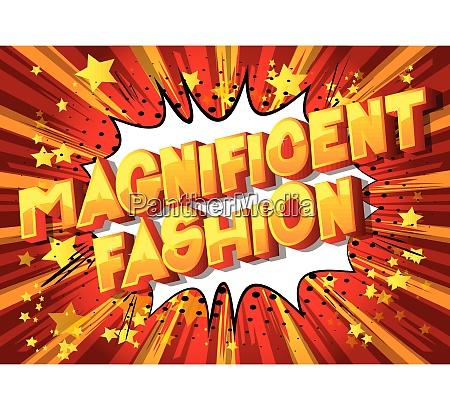magnificent fashion comic book style