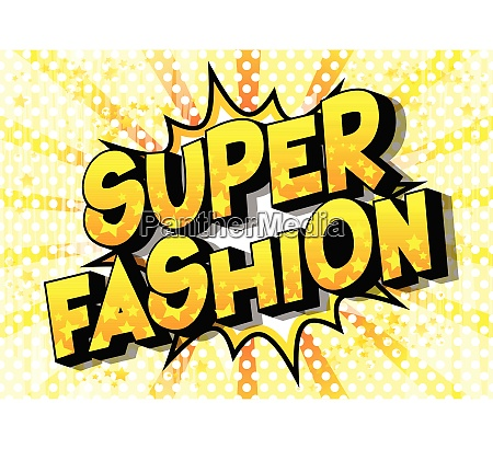 super fashion comic book style