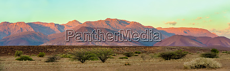 sunrise in brandberg mountain namibia africa