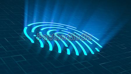 fingerprint scanner concept