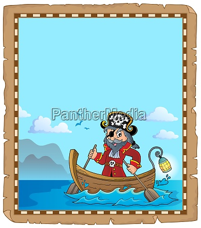 pirate in boat topic parchment 2