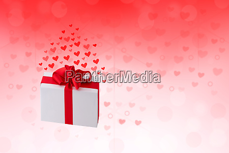happy valentines or wedding day abstract