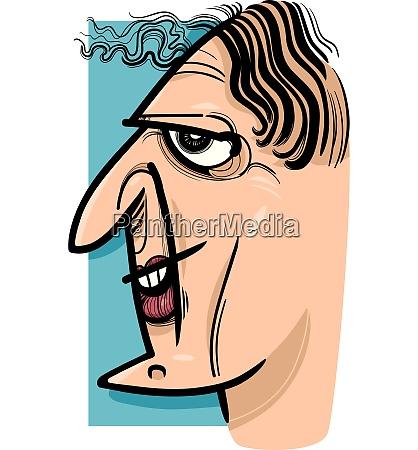 funny woman cartoon sketch illustration