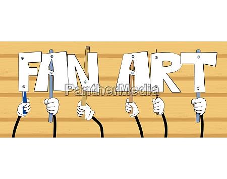 hands holding the words fan art