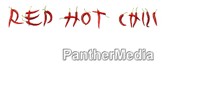 red chili on paper white background