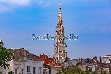 brussels city hall in brussels belgium
