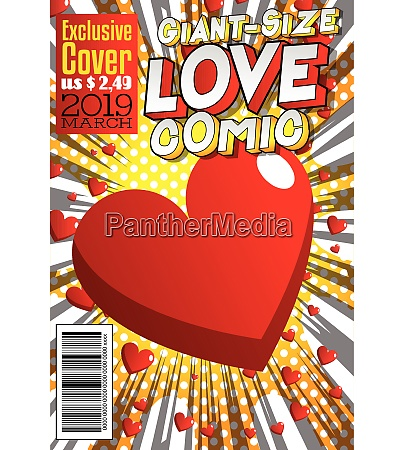 giant size love comic book cover