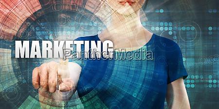 woman accessing marketing