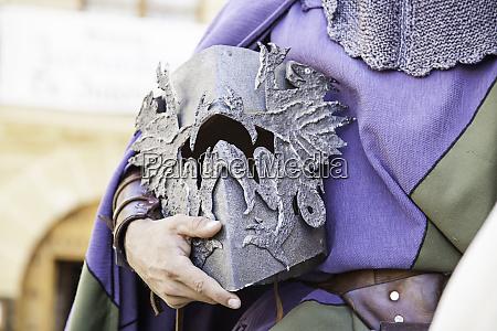 medieval hull of a knight templar