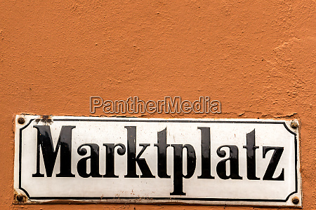 german sign for marketplace on the