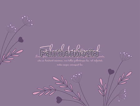 background from silhouettes of flowers