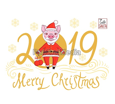piglet in the role of santa