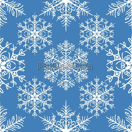 christmas seamless pattern with snowflakes on