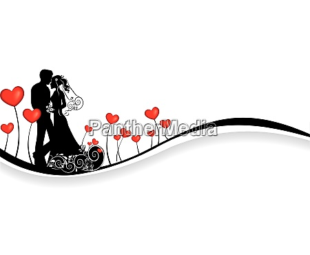 valentines background with love couple