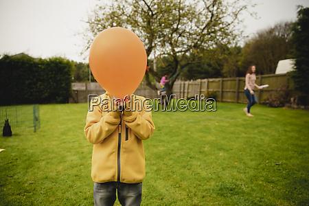 creative headshot of a young boy