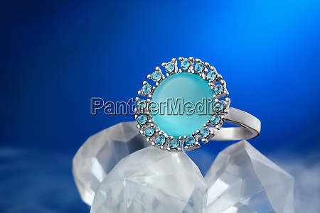 precious ring with gemstone