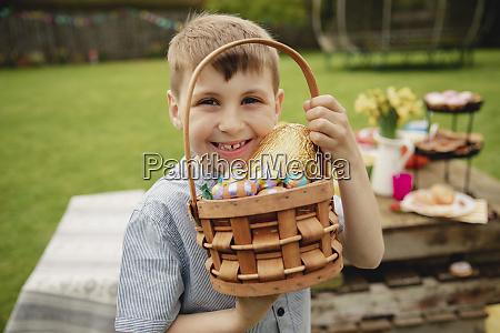 he loves chocolate eggs