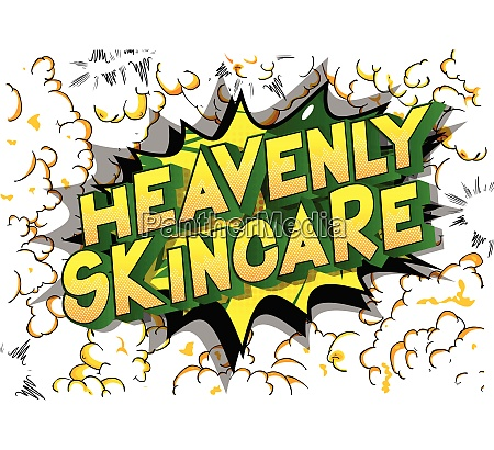 heavenly skincare comic book style
