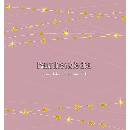 golden color circles and stars