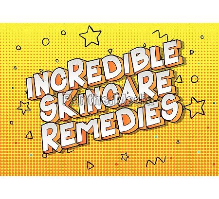 incredible skincare remedies comic book