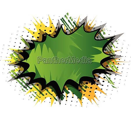 comic book background with big green
