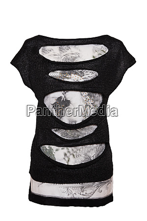black and white from womans clothing