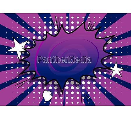 comic book background with big purple