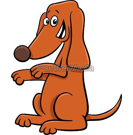standing dog cartoon animal character