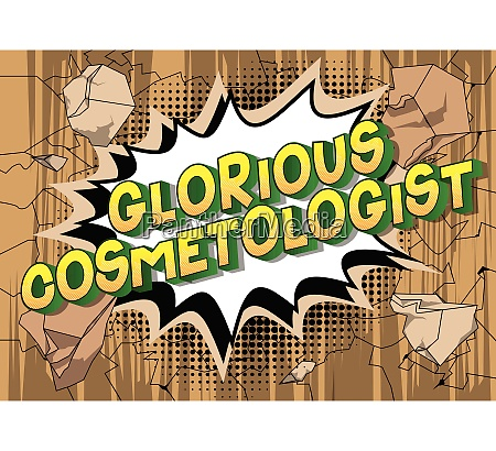 glorious cosmetologist comic book style