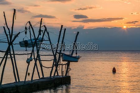 hanging boats at savudrija istria croatia