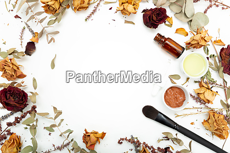 aromatic botanical cosmetics dried herbs flowers