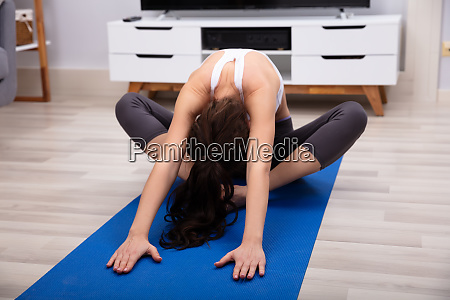woman doing relaxation exercise